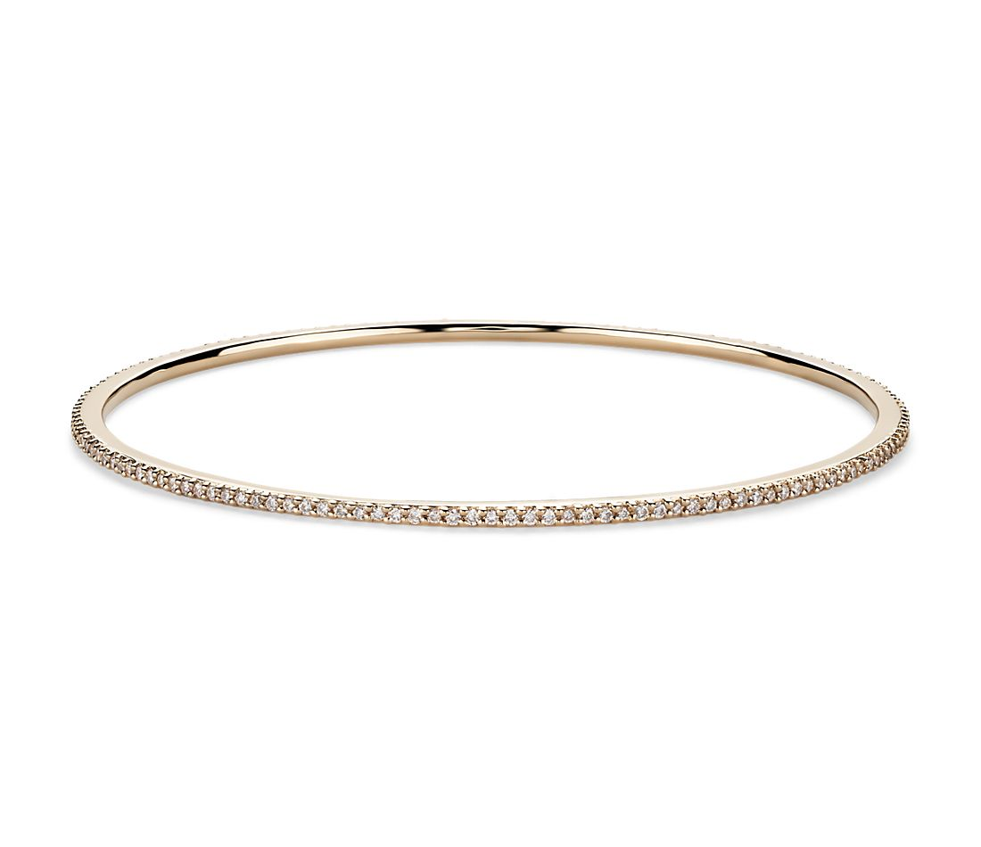 Stackable Pavé Diamond Bangle In 18k Yellow Gold (1 Ct Tw. Religious Medallion. Life Lockets. Beed Bracelet. Curved Bands. Round Diamond Rings. Mens Necklace. Sapphire Anklet. Heart Shaped Diamond Wedding Rings