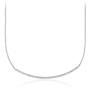 Bar Diamond Necklace in 14k White Gold (1/3 ct. tw.)