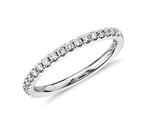 Pavé Diamond Ring in 14k White Gold (.25 ct. tw.)