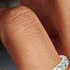 Bague en diamants sertis pavé en platine (1carat, poids total)
