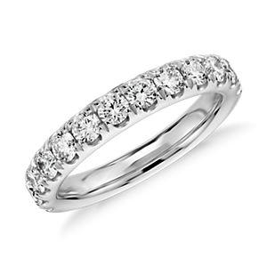 Bague en diamants sertis pavé en or blanc 14carats (1carat, poids total)