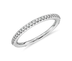 Pavé Wedding Band in 14K White Gold