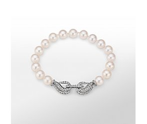 Monique Lhuillier Akoya Cultured Pearl and Diamond Bracelet