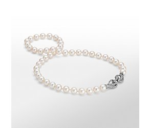 Monique Lhuillier Akoya Cultured Pearl and Diamond Necklace