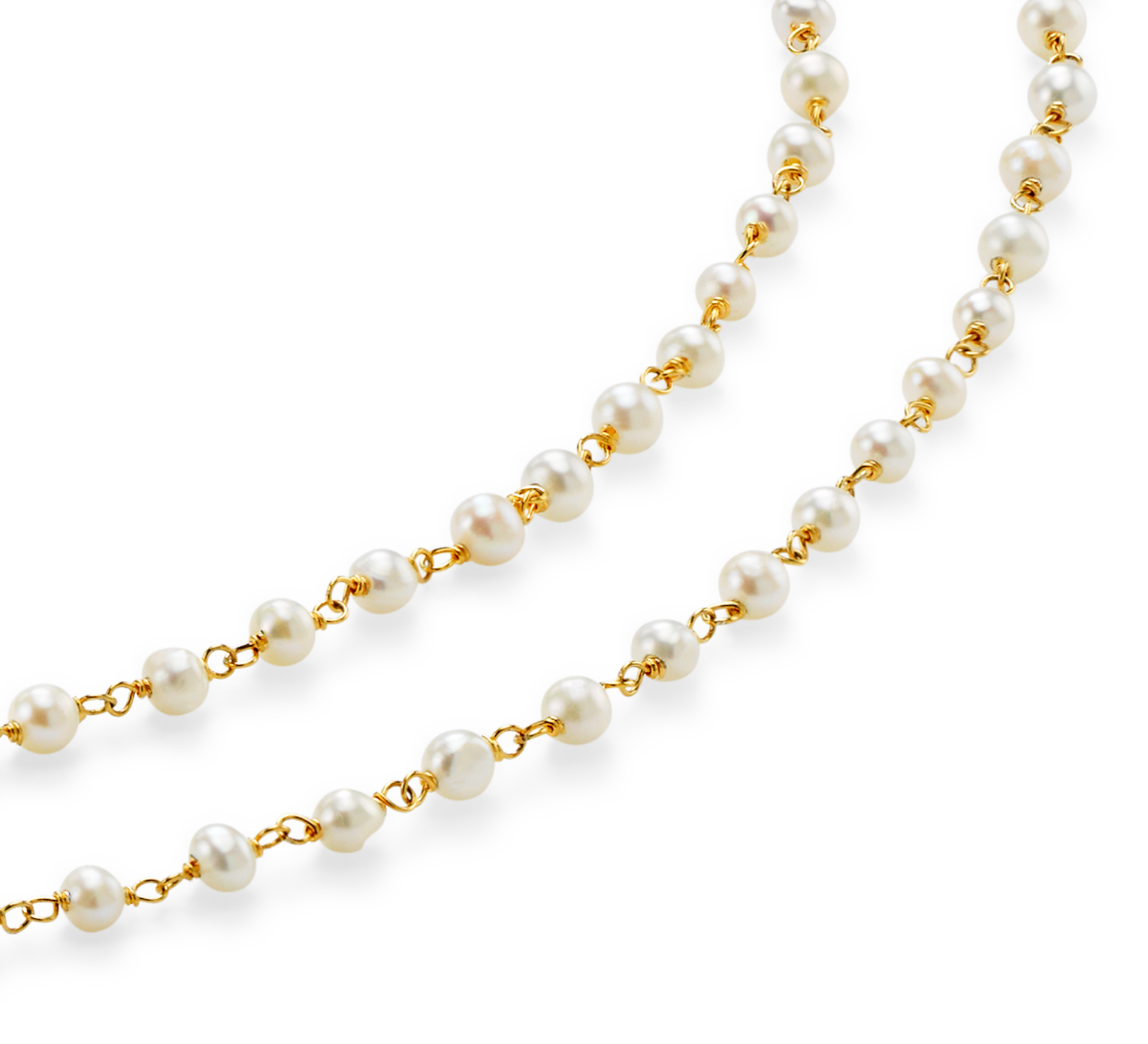 Freshwater Cultured Pearl Necklace in Gold Vermeil
