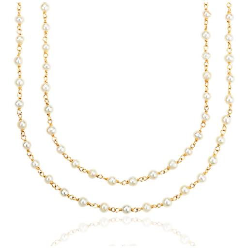 Freshwater Cultured Pearl Necklace in Gold Vermeil (3mm)