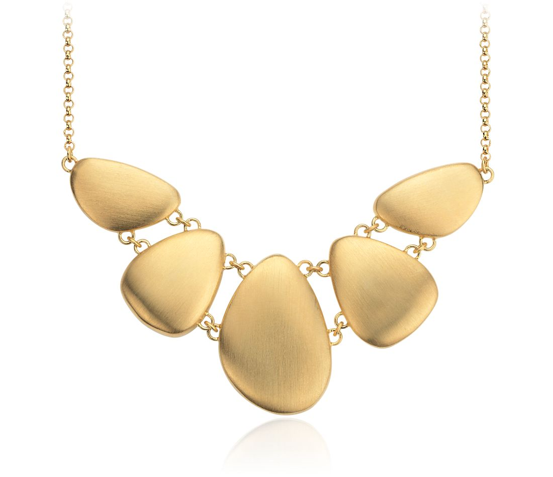 Pebble Statement Necklace in Yellow Gold Vermeil