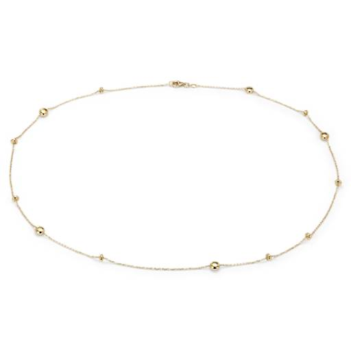 Pebble Station Necklace in 18k Yellow Gold