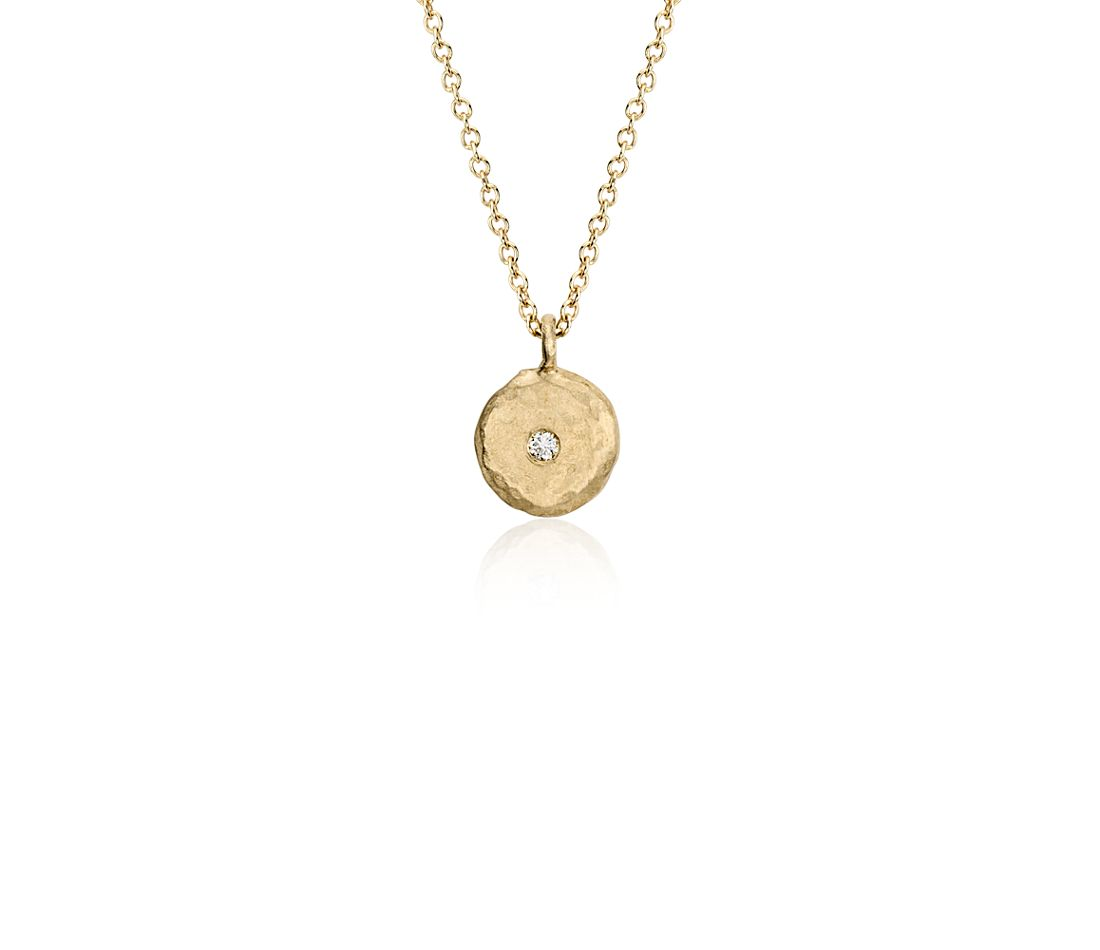 Sunshine Drop Pendant in Satin 14k Yellow Gold