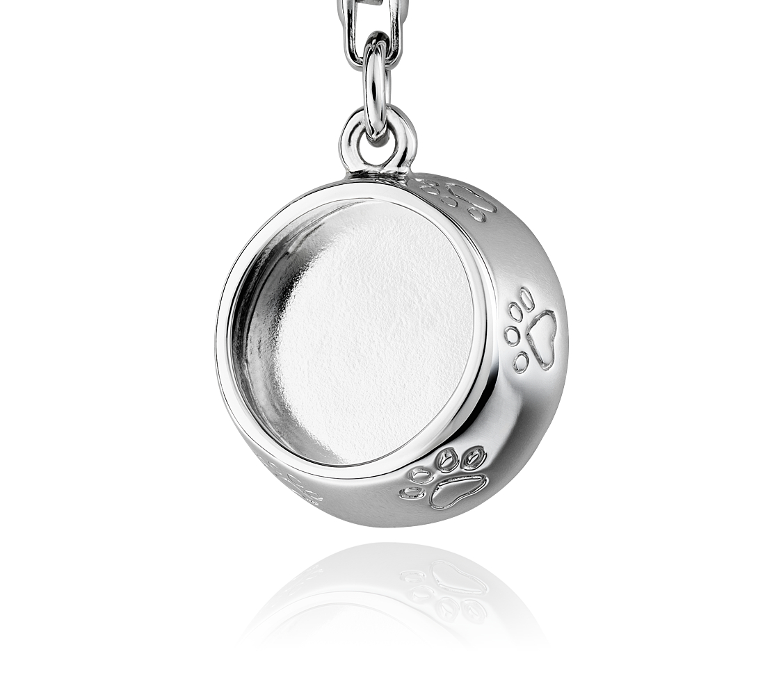 Pet Dish Charm in Sterling Silver