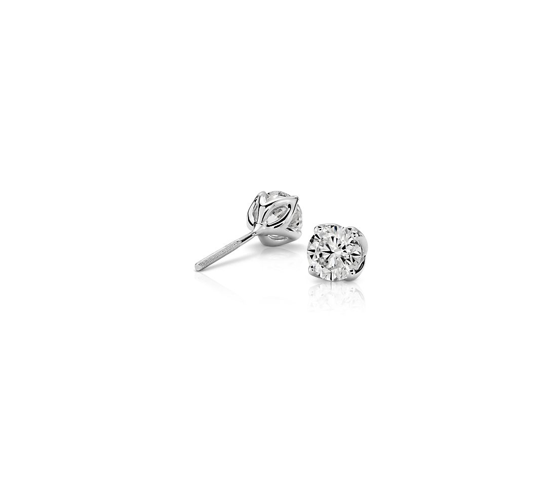 Petal Diamond Earrings in Platinum  (1.00 ct. tw.)
