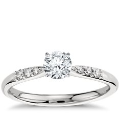 Petite Diamond Engagement Ring in Platinum (.07 ct. tw.)