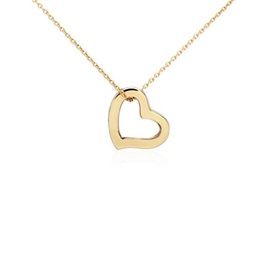 Petite Heart Pendant in 14k Yellow Gold