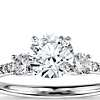Petite Micropavé Trio Diamond Engagement Ring in 14k White Gold (1/4 ct. tw.)