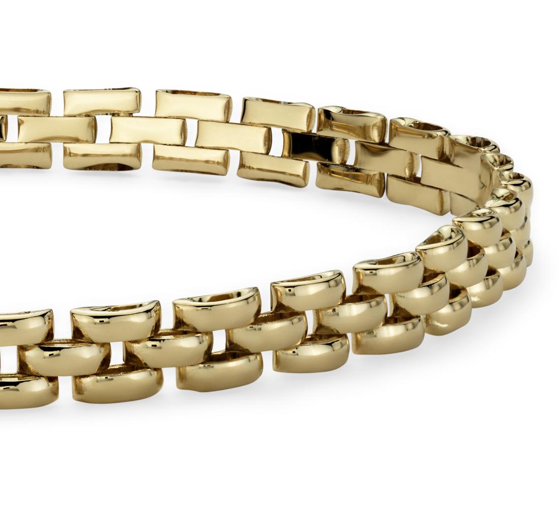 Bracelet panthère petite taille en or jaune 14carats