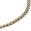 Collar pequeño con eslabones tipo pantera en oro amarillo de 14k