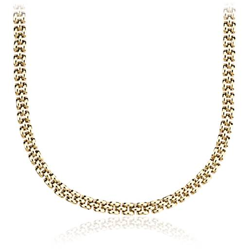 Petite Panther Necklace in 14k Yellow Gold