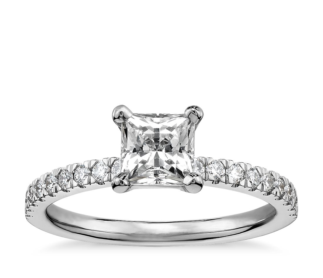 3 4 carat preset princess cut pav 233