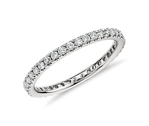 Petite Pave Diamond Eternity Ring in Platinum  (1/2 ct. tw.)