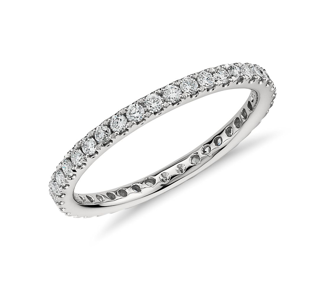 Petite Pavé Diamond Eternity Ring in Platinum  (1/2 ct. tw.)