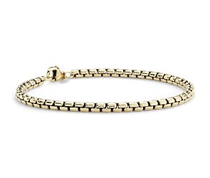 Petite Round Box Bracelet in Yellow Gold Vermeil