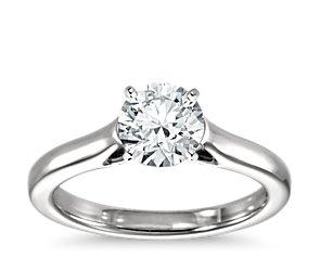 petite trellis solitaire engagement ring in platinum blue nile. Black Bedroom Furniture Sets. Home Design Ideas