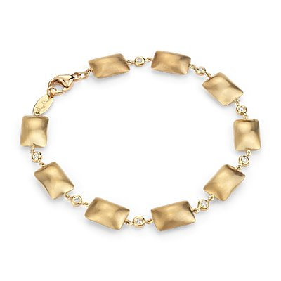Brazalete de diamantes Pillow Talk de Angela George en oro amarillo de 14 k