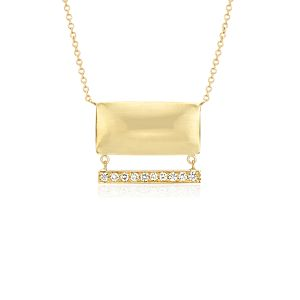 Angela George Pillow Talk Diamond Necklace in 14k Yellow Gold