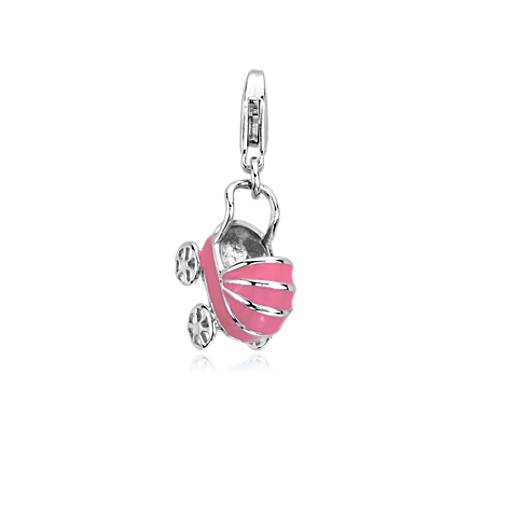 Pink Baby Buggy Charm