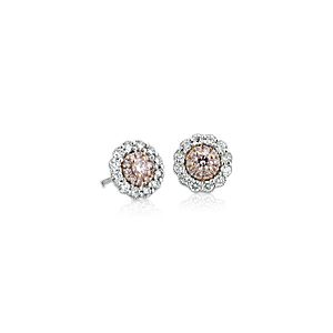 NEW Pink Diamond Earrings 18k White and Rose Gold (1/2 ct. tw.)