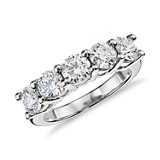 Blue Nile Signature Five Stone Diamond Ring in Platinum (2 ct. tw.)