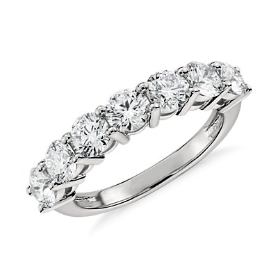 Blue Nile Signature Seven Stone Diamond Ring in Platinum (2 ct. tw.)
