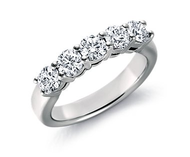 Blue Nile Signature Diamond Ring in Platinum (1 ct. tw.)