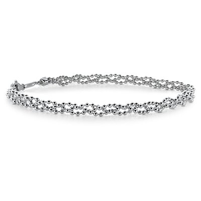 Garland Bead Bracelet in Platinum