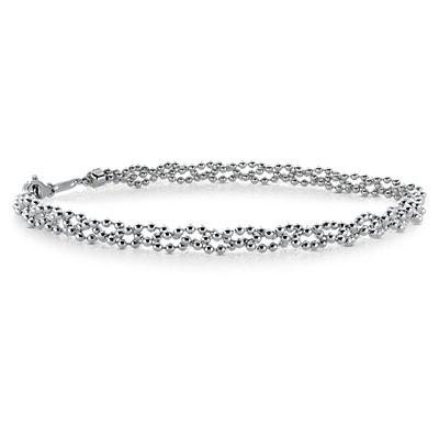 Bracelet en perles guirlande en platine