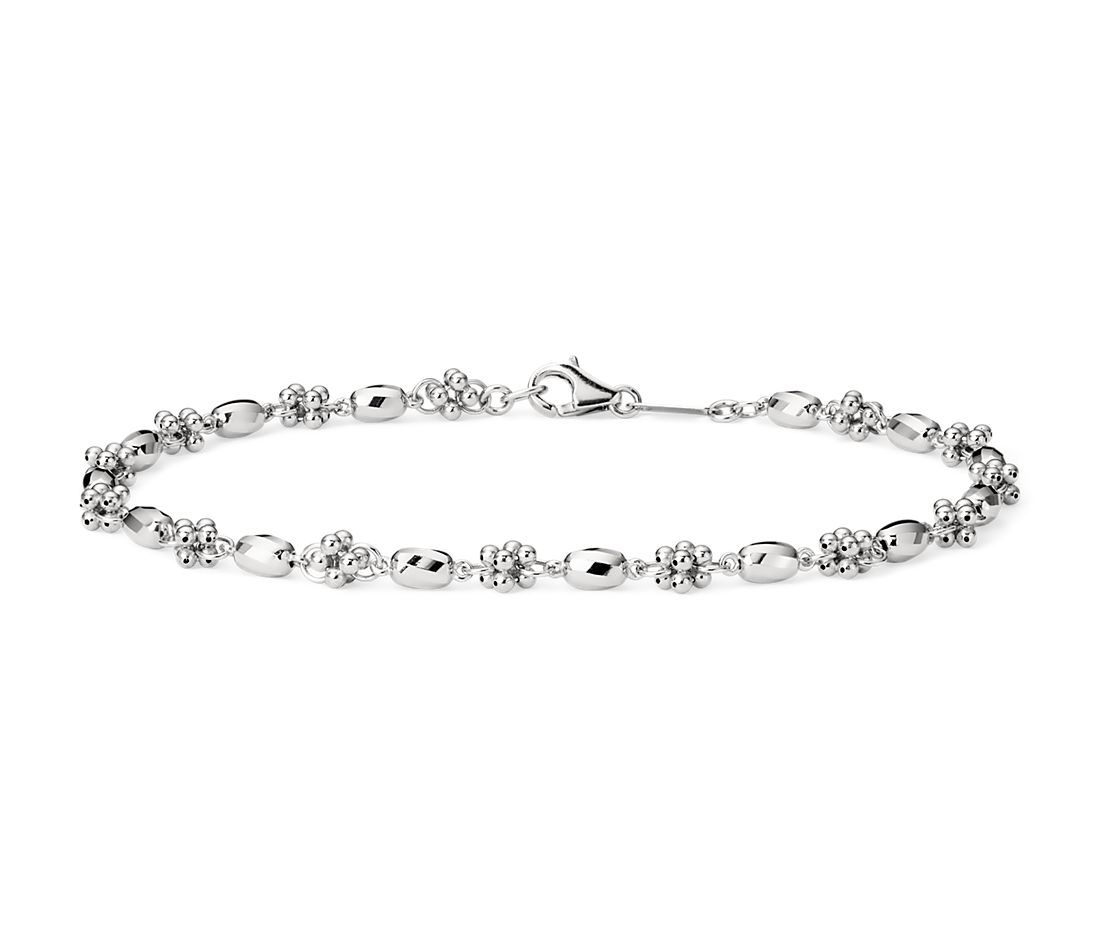 Faceted Cluster Bracelet in Platinum