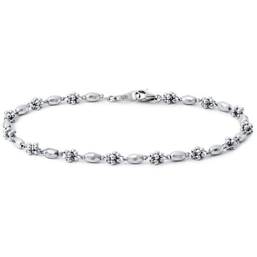 Faceted Cluster Bracelet in Platinum