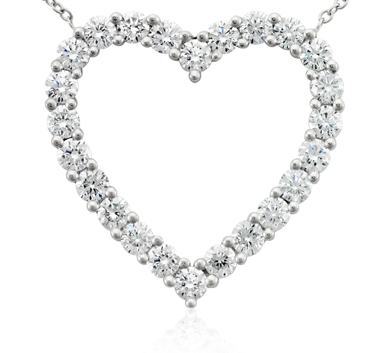 Diamond Heart Pendant in Platinum (2 ct. tw.)