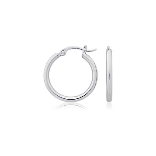 Hoop Earrings in Platinum (3/4