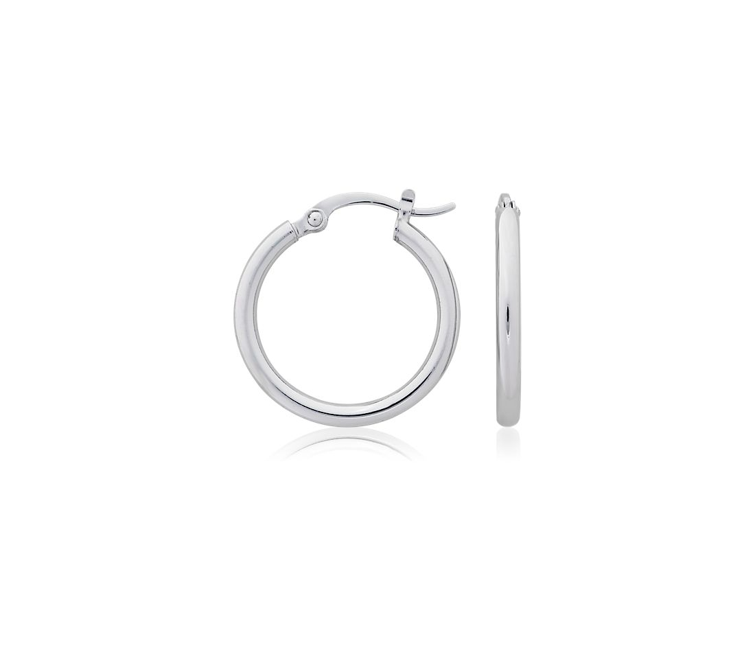 "Hoop Earrings in Platinum (3/4"")"