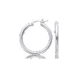 Hoop Earrings in Platinum (1