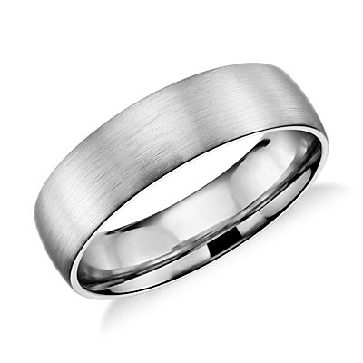 Matte Classic Wedding Ring in Platinum (6mm)