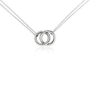 Collar de anillos infinitos en platino
