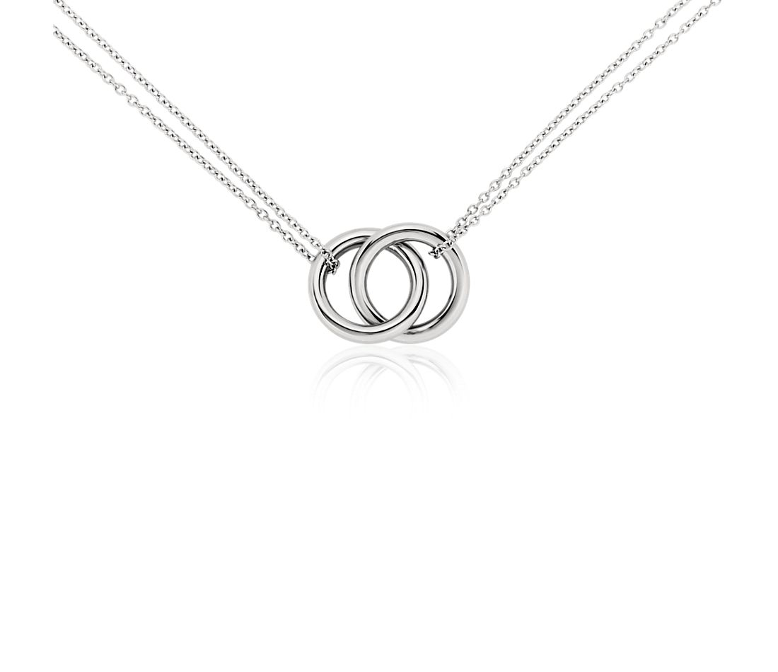 catprod blue sterling phab main nile necklace in infinity rings silver
