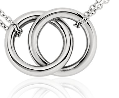 15dbd3b11c9 Infinity Rings Necklace in Platinum Blue Nile on PopScreen