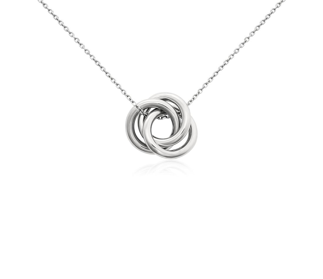 Love Knot Pendant In Platinum Blue Nile