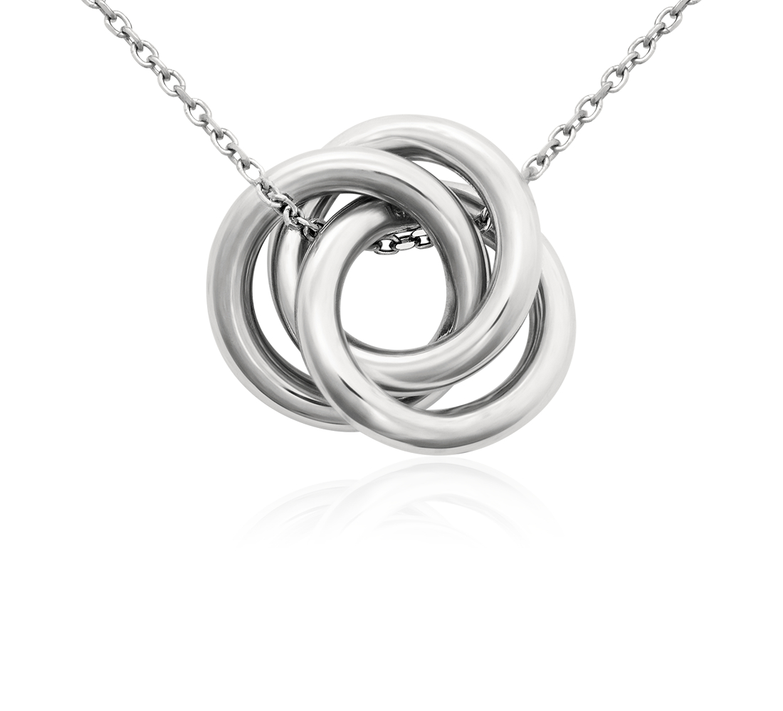 Love Knot Pendant in Platinum