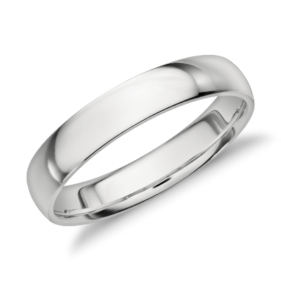 Mid Weight Comfort Fit Wedding Band In Platinum 4mm Blue Nile