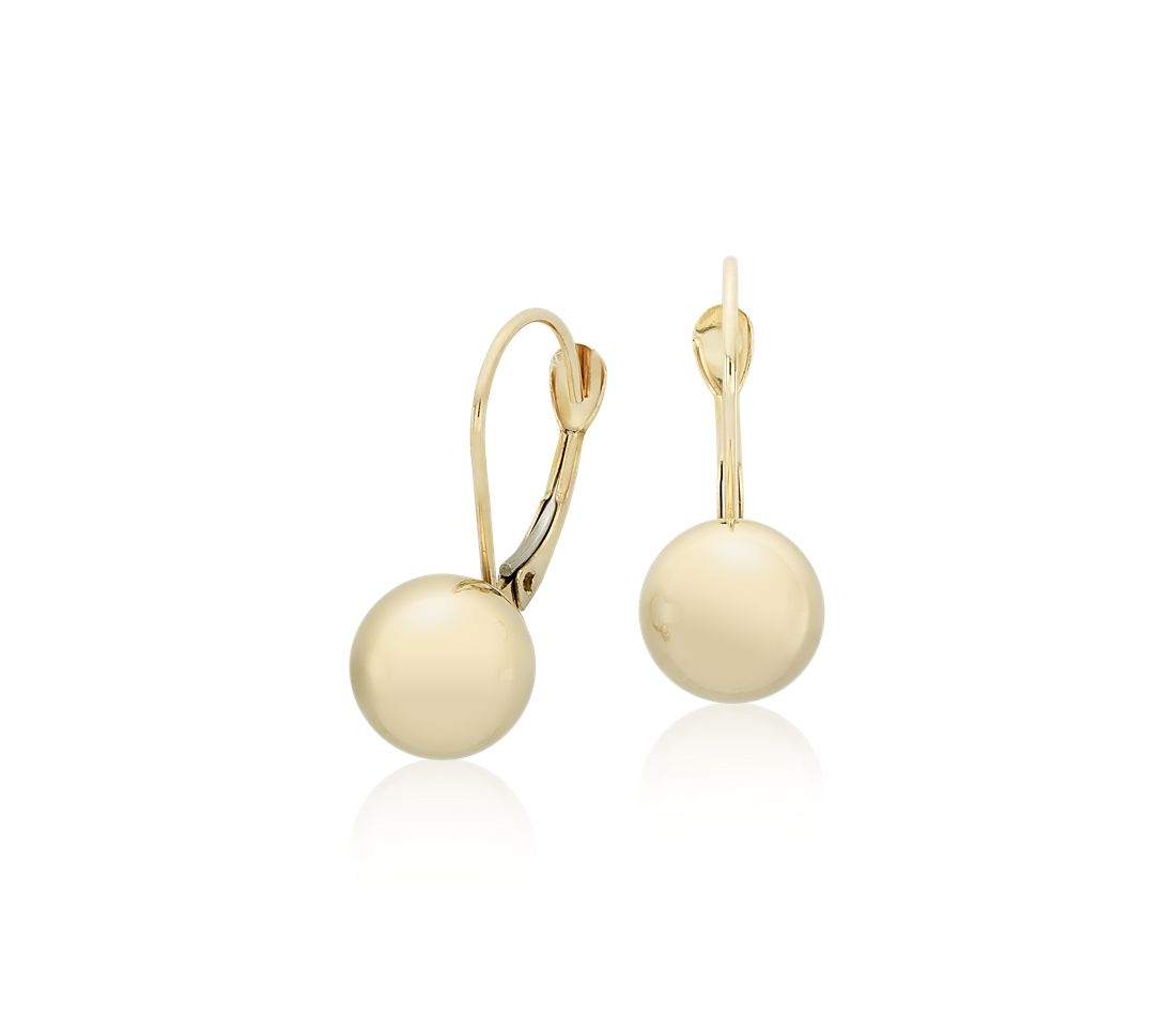 Polished Ball Earrings in 14k Yellow Gold