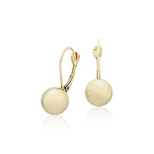 Polished Ball Earrings in 14k Yellow Gold (8mm)